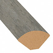 Stormy Gray Oak Vinyl 1.075 in wide x 7.5 ft Length Quarter Round
