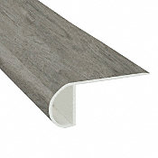 Stormy Gray Oak Vinyl Waterproof 2.25 in wide x 7.5 ft Length Low Profile Stair Nose