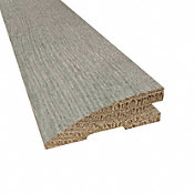 Prefinished Distressed Cashmere Hardwood Gray Oak 3/4 in thick x 2.25 in wide x 78 in Length Reducer