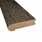 Prefinished Winter Solstice Hickory Hardwood 3/4 in thick x 3.125 in wide x 78 in Length Stair Nose