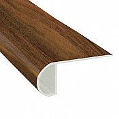 Tobacco Road Acacia Vinyl Waterproof 2.25 in wide x 7.5 ft Length Low Profile Stair Nose