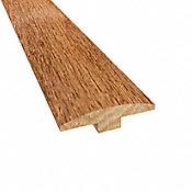 Prefinished Spanish Hickory Hardwood 1/4 in thick x 2 in wide x 78 in Length T-Molding