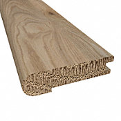 Prefinished Geneva White Oak Hardwood 5/8 in thick x 2.75 in wide x 78 in Length Stair Nose