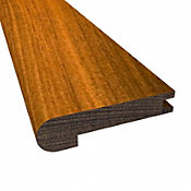 Prefinished Brazilian Walnut Hardwood 1/2 in thick x 2.75 in wide x 78 in Length Stair Nose