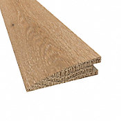 Prefinished Distressed Claire Gardens Oak Hardwood 5/8 in thick x 2.25 in wide x 78 in Length Reducer