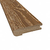 Prefinished Distressed Hillside Cove Oak Hardwood 5/8 in thick x 2.75 in wide x 78 in Length Stair Nose