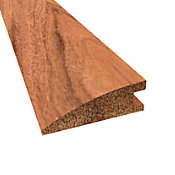 Prefinished Curupay Hardwood 3/4 in thick x 2.25 in wide x 78 in Length Reducer