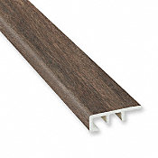 Antique Wood Medley Laminate Waterproof 1.374 in wide x 7.5 ft Length Low Profile End Cap
