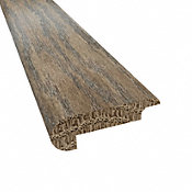 Prefinished Bistro Barn Oak Hardwood 0.438 in thick x 2.188 in wide x 78 in Length Overlap Stair Nose