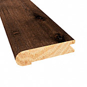 Prefinished Distressed Hunters Creek Hickory Hardwood 3/4 in thick x 3.125 in wide x 78 in Length Stair Nose