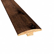 Prefinished Distressed Hunters Creek Hickory Hardwood 1/4 in thick x 2 in wide x 78 in Length T-Molding