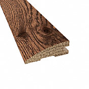 Prefinished Distressed Kingston Oak Hardwood 3/4 in thick x 2.25 in wide x 78 in Length Reducer