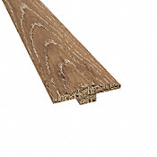Prefinished Distressed Tangier Oak Hardwood 1/4 in thick x 2 in wide x 78 in Length T-Molding