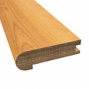 Prefinished Distressed Bellingham Hardwood 3/4 in thick x 3.125 in wide x 78 in Length Stair Nose