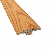 Prefinished Distressed Somersworth Oak Hardwood 1/4 in thick x 2 in wide x 78 in Length T-Molding