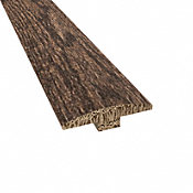 Prefinished Distressed Coggeshall Oak Hardwood 1/4 in thick x 2 in wide x 78 in Length T-Molding