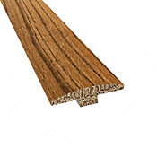 Prefinished Distressed Westport Oak Hardwood 1/4 in thick x 2 in wide x 78 in Length T-Molding