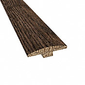 Prefinished Distressed Exeter Oak Hardwood 1/4 in thick x 2 in wide x 78 in Length T-Molding