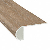 Saint Florent Hickory Vinyl Waterproof 2.25 in wide x 7.5 ft Length Low Profile Stair Nose