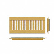 "4"" x 12"" Shadow Bamboo Drop In Grill"