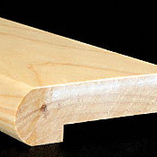 "3/4"" x 3 1/4"" x 6.5 LFT Hickory Stair Nose"