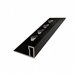 3/8 x 96 Brushed Black Tile Contempo-Edge