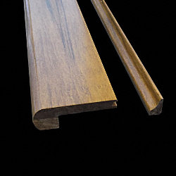 3/8x 3-1/4x 72 Antique Strand Flush Stair Nose