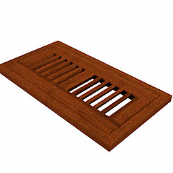 4 x 10 Brazilian Cherry 1/2 Flush Grill