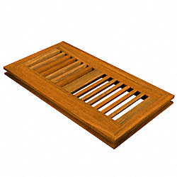 4 x 10 Brazilian Walnut Flush Grill
