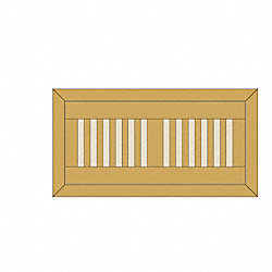 4 x 10 Hickory Flush Grill 1/2
