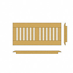 4 x 10 Honey Strand Bamboo Drop In Grill