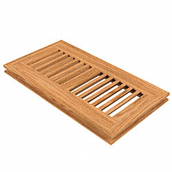 4 x 10 Red Oak Flush Grill