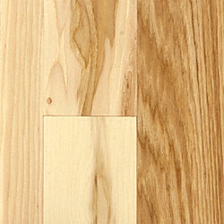 3/4 x 5 Matte Hickory Natural Solid Hardwood Flooring
