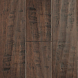 Jefferson County Distressed Wide Plank Click Engineered Bamboo Flooring - 50 Year Warranty