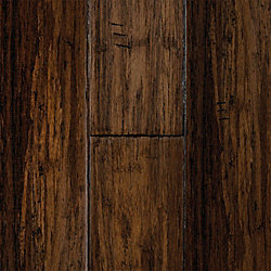 Antique Hazel Strand Distressed Wide Plank Click Solid Bamboo Flooring - 1/2 in. thick