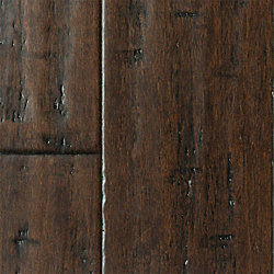 Cafe Noir Strand Distressed Extra Wide Plank Float Engineered Bamboo Flooring - Lifetime Warranty