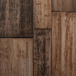Cafe au Lait Strand Distressed Wide Plank Float Engineered Bamboo Flooring - Lifetime Warranty