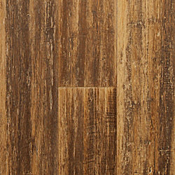 Caramel Glaze Strand Distressed Wide Plank Float Engineered Bamboo Flooring - Lifetime Warranty