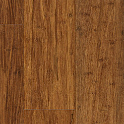 Carbonized Strand Wide Plank Click Solid Bamboo Flooring - 1/2 in. thick