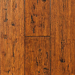 Coppermine Strand Distressed Click Engineered Bamboo Flooring - 30 Year Warranty