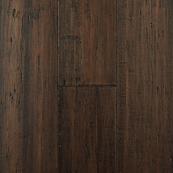 Monticello Strand Distressed Extra Wide Plank Float Engineered Bamboo Flooring - Lifetime Warranty