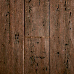Rustic Clove Strand Distressed Wide Plank Solid Bamboo Flooring - Lifetime Warranty