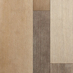 Seaward Bluff Strand Wire Brushed Wide Plank Engineered Bamboo Flooring - Lifetime Warranty