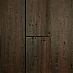 Vintage Java Strand Distressed Wide Plank Solid Bamboo Flooring - 9/16 in. thick