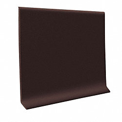 Brown Vinyl Waterproof 4 in wide x 120 ft Length roll Vinyl Wall Base