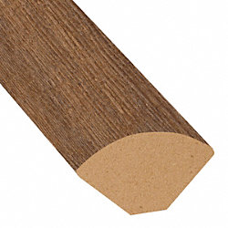 Copper Ridge Chestnut Laminate 1.075 in wide x 7.5 ft Length X2O Water-Resistant Quarter Round