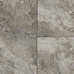 8mm Oyster Shell Travertine Engineered Vinyl Plank Flooring