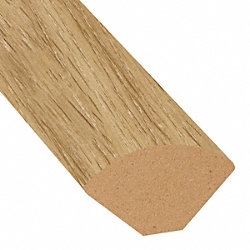 Corn Silk Oak Vinyl 1.075 in wide x 7.5 ft Length Quarter Round