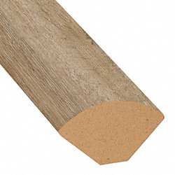 Country Bluff Oak Vinyl 1.075 in wide x 7.5 ft Length Quarter Round