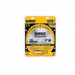 DW3106P5 10 Saw Blade 60T/32T Combo Pack
